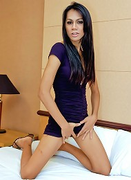 Naughty Thai tgirl Tik cums extra creamy