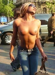 Hot Trannies At The Gay Parade In Santiago